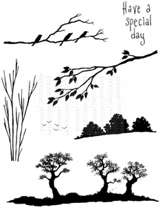 Stamps|Stamping Accessories|Handicraft Tools  - Lindsay Mason Designs Silhouette Scenes Clear Stamp