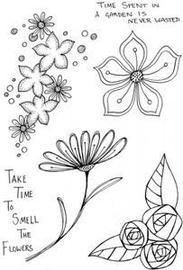 Stamps|Stamping Accessories|Handicraft Tools  - Lindsay Mason Designs Smell the flowers Clear Stamp