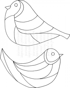 Stamps|Handicraft Tools  - Lindsay Mason Designs Zendoodle Bird Pair Clear Stamp