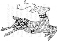 Stamps|Handicraft Tools  - Lindsay Mason Designs Zendoodle Reindeer Ready To Go A6 Clear Stamp