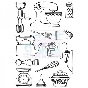 Sweet Dixie Kitchen Wares A6 Clear Stamp