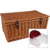 "23"" Traditional Lidded Hamper with Packaging"