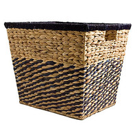 Chequered Water Hyacinth Basket