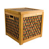 Chequered Wooden Box