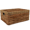 Lidded Water Hyacinth Basket (Large)