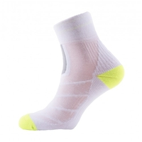 Run Race Ankle - White / Light Grey / Illuminous