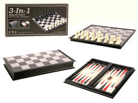 Toys & Games  - Travel Chess, Draughts and Backgammon Set