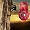 20KN Mountain Rock Climbing Rope Pulley Fixed Side Single Bearing Roller