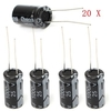 20PCS 1000uF 25V Radial Electrolytic Capacitor 10x17mm 105 C