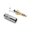 3.5mm Stereo 3 Pole Headphone Audio Male Plug Solders Connector