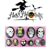 3D Halloween Skull Silicone Cake Mold Fondant Cake Decorating Mould