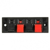 4 - Way AMP Stereo Speaker Terminal Strip Push Release Connector Block