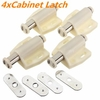 4 pcs Open Magnetic Door Drawer Cabinet Latch Catch Touch Kitchen Cupboard