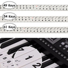 49/54/61 Key Electronic Keyboard Piano Stickers Note Piano Practice Self-learn