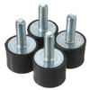 4pcs M6 20x15mm Rubber Shock Absorber Rubber Vibration Isolator Mounts