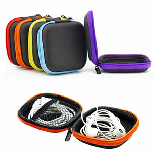 6 Colors Bank Book Pocket EVA Earphone Case Earbuds SD Card Micro USB Cable Package
