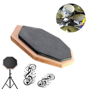 Electronic Toys|Drum accessories|Guitar accessories  - 6 inch Dumb Pad Exercise Mat Blow Plate Drummer Rubber Double Side Soft Black