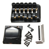 6 String Fixed Headless Guitar Bridge Tailpiece Accessory Roll Ball Saddle