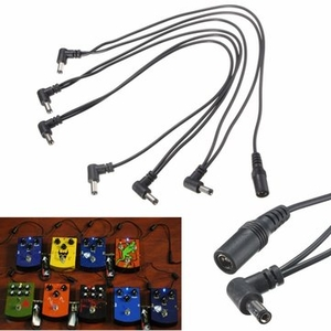 Electronic Toys|Instrument Accessories|Guitar accessories  - 6 Way 9V Power Supply Splitter Cable Daisy Chain for Electric Guitar Effect Pedal