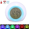 7 Color LED Glowing Change Temperature Sound Digital Alarm Clock
