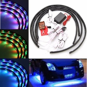 Car Accessories|Clothing|Light Bulbs  - 7 Color LED Strip Car Under Glow Underbody System Neon Light Kit