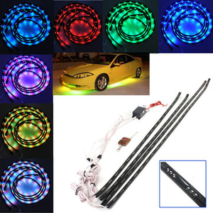 Car Accessories|Clothing|Light Bulbs  - 7 Color LED Under Car Glow Underbody Remote System Neon Light Kit