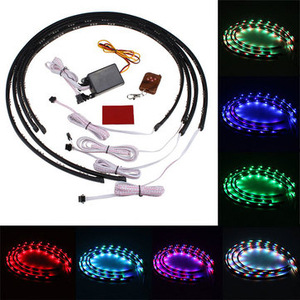 Car Accessories|Clothing|Light Bulbs  - 7 Color RGB LED Strip Under Car Underbody System Neon Lights Kit Chassis Lights
