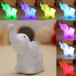 Wrapping Paper & Gift Boxes|Accessories|Balloons  - 7 Colors Changing Elephant LED Night Light Battery Party Decor