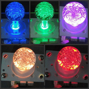 Sony PlayStation 2|Accessories  - 7 Colors Coin Operated Game Accessory Colorful LED Glitter Lighted Illuminated Joystick Arcade Stick