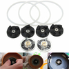 9PCS Base Gear Rubber Gear Gasket Cross Juice Extractor Flat Blade Replacement