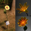 Garden Solar Power Flower White LED Light Outdoor Landscape Decorations Lamp