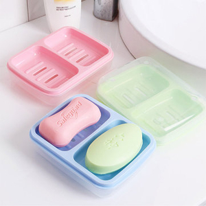 Hollow Out Bathroom Soap Box Waterproof Bath Soap Dish Sponge Stand Holder