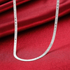 I LOVE YOU 4mm 20inch Snake Simple Necklace Jewelry Clothing Accessories