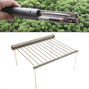 Security Locks & Padlocks|Accessories  - IPRee Outdoor Portable BBQ Grill Folding Barbecue Support Stand For Picnic Camping Stove Utensils