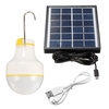 Outdoor Solar Powered 2W 2835 SMD LED Globe Light Bulb Camp Lamp 220V