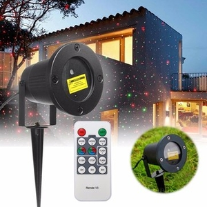Lighting|Table Lamps|Decorative Lighting  - R G LED Laser Projector Stage Light Remote Waterproof Outdoor Landscape Garden Yard Xmas Decor