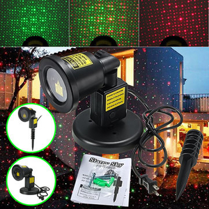 Lighting|Table Lamps|Decorative Lighting  - R G Waterproof LED Moving Laser Xmas Stage Light Landscape Garden Projector Lamp