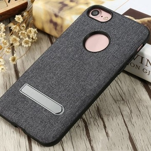 Accessories|Cases & Holders  - X-level Denim Canvas Soft TPU Dual Protection Shockproof Dropproof Kickstand Case For iPhone 7 4.7""