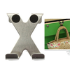 X Shape Stainless Over Door Hooks Cabinet Clothes Pothook Hanger