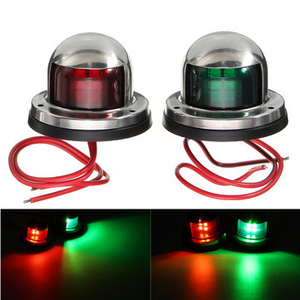 Clothing|Accessories  - Yacht Light 12V Stainless Steel LED Bow Red Green Navigation Lights Marine Boat