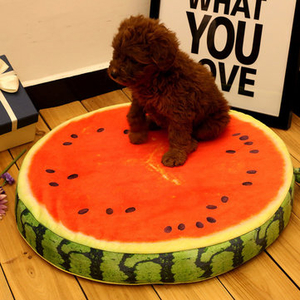 Other Accessories|Transport & Safety|Accessories  - Yani HP-PK1 Pet Dog Simulation Fruit Mats Colorful Squishy Cotton Dog Beds Pet Kennels