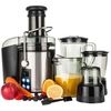 Savisto 4-in-1 800W Power Juicer with Digital LCD Display - Includes 1.5L Blender,  Grinder,  Food Chopper and Jug