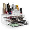 Sets Savisto Clear Acrylic Make Up Organiser with Display Stand and Drawers