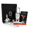 Savisto Premium 8 Piece Boston Cocktail Shaker Gift Set and Recipe Book