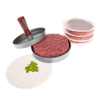 Gifts & Drink Accessories|Scales  - Savisto Premium Metal Homemade Burger Maker Press and 100 Wax Discs