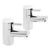Savisto Round Lever Basin Taps (Pair) – Chrome