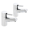 Savisto Round Lever Bath Taps (Pair) - Chrome