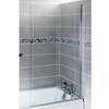 Savisto Square Hinged Bath Screen