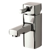Savisto Square Lever Monobloc Basin Mixer with Push Waste