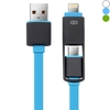 2 in 1 8 Pin Micro USB Cable 1M Charge/Sync Cable f Smartphone